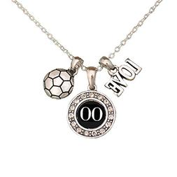 MadSportsStuff Custom Player ID Soccer Necklace