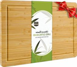 Utopia Kitchen Extra Large Bamboo Cutting Board 17 by 12 inc