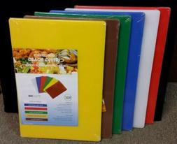Cutting Boards, 18 Inch x 12 Inch x 1/2 Inch, 6 Colors/set C