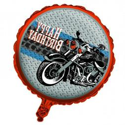 Cycle Shop 18 Inch Round Foil Mylar Balloon Motorcycle Happy