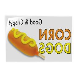 Decal Stickers Corn Dogs Good & Crispy! Vinyl Store Sign Lab