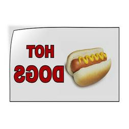 Decal Stickers Hot Dogs Food and Drink Vinyl Store Sign Labe