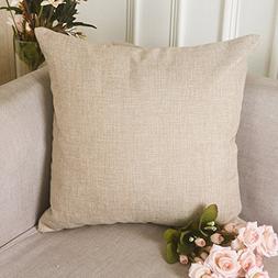 HOME BRILLIANT Decoration Linen Burlap Decor Square Throw Cu