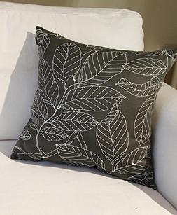 TangDepot Decorative Handmade Light Black Floral 100% Cotton