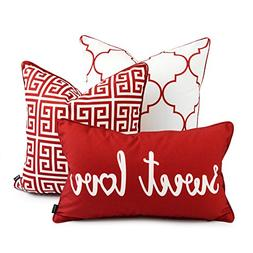 Hofdeco Decorative Throw and Lumbar Pillow Cover INDOOR OUTD