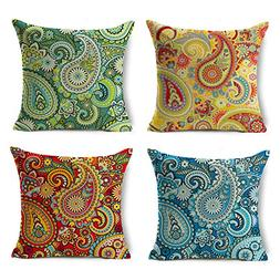 Chogori Decorative Throw Pillow Covers Set of 4 Cotton Linen