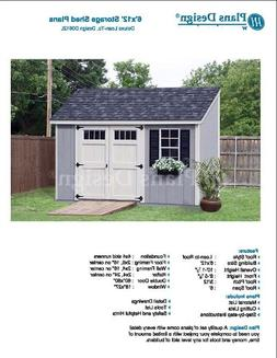 6' x 12' Deluxe Back Yard Storage Shed Project Plans, Lean T