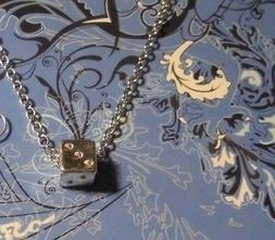 Dice Silver Charm Chain 18 Inch Necklace**~Free Ship