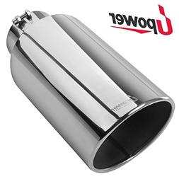 """Diesel Exhaust Tip 5 inch inlet 8 inch outlet 18"""" Length Sta"""