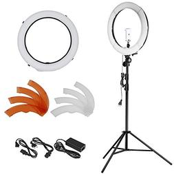 Neewer 18 inches 55W LED 5500K Dimmable Ring Light Kit Inclu
