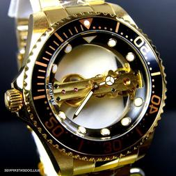 Invicta Pro Diver Ghost Bridge Mechanical Gold Plated Skelet