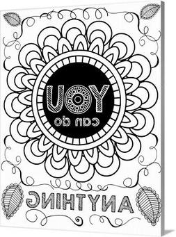 DIY Coloring Book Canvas Art entitled Anything