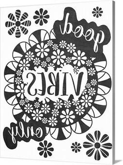 DIY Coloring Book Canvas Art entitled Good Vibes