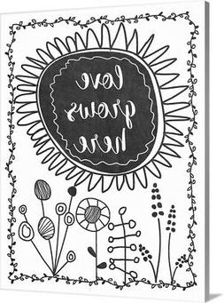 DIY Coloring Book Canvas Art entitled Love Grows