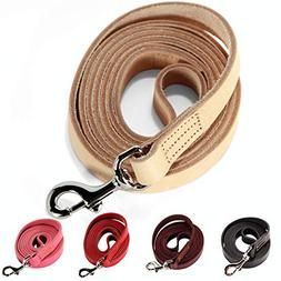 Logical Leather 6 Foot Dog Leash - Best for Training - Water