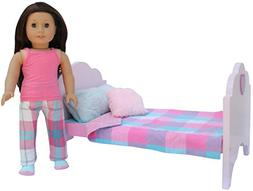 """PZAS Toys American Girl Doll Bed - Furniture for 18"""" Doll. C"""