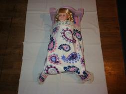 doll bedding for 18 inch american girl blanket pillow set bl
