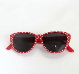 "Doll Clothes 18"" Sunglasses Red White Polka Dot Fits America"