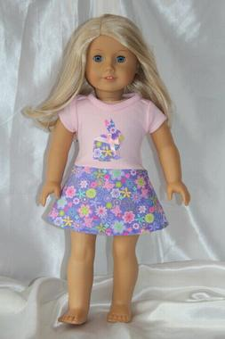 Doll Clothes fits 18inch American Girl Doll Dress Bunny East