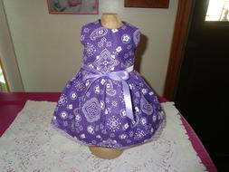 doll clothes for 18 inch american girl white paisley on dark