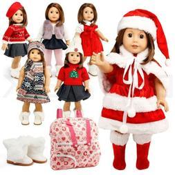 "Doll Clothes for American Girl 18"" inch Dolls Wardrobe Mak"