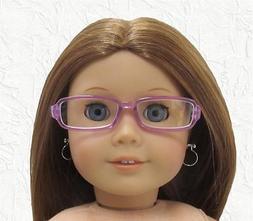 Doll Clothes Glasses Rectangular Purple Plastic Frames Fit 1