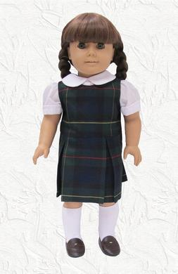 Doll Clothes School Uniform Lands End Hunter Plaid fits 18 i