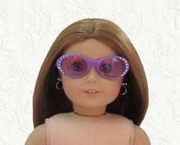 Doll Clothes Sunglasses Purple Rhinestone Plastic Fram fit 1