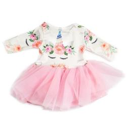 Doll Clothes Unicorn Tulle Dress  for 18inch Girl My Life Do