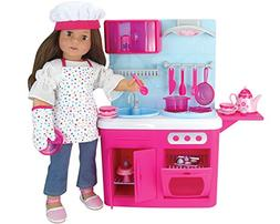 Sophia's LA-KA 18 Inch Doll Kitchen with 19 Pieces, Features