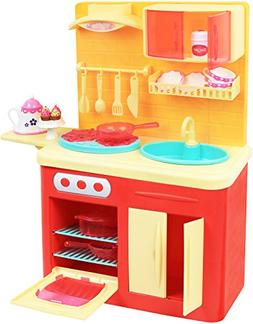 "Click N' Play 22 Piece 18"" Doll Kitchen Play Station with Ac"