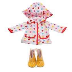 Rucan Doll Raincoat Hat Shoes Clothes for 18 Inch American G
