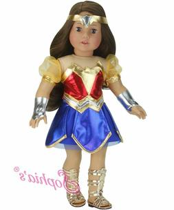 18 Inch Doll Super Hero Woman Costume by Sophia's, Fits Amer