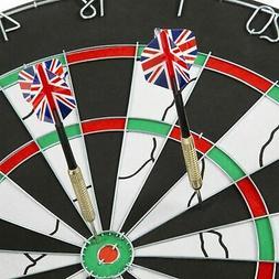 18 Inch Double Sided Flocking Dartboard with Darts 6.5 Pound
