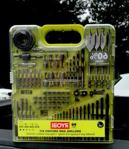 Ryobi A98901G 90 Piece Drilling and Driving Kit for Wood, Me