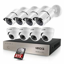ZOSI 8CH 1080p DVR 2MP Outdoor Home Security Camera System w