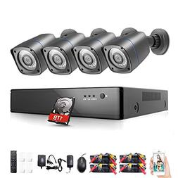 Rraycom 4 Channel 1080H Home Security DVR 2000TVL with 4PC 7