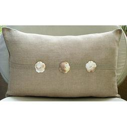 Ecru Lumbar Pillow Cover, Mother Of Pearls Lumbar Pillow Cov