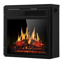 "JAMFLY Electric Fireplace Insert 18"" Freestanding Heater wit"