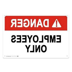 CGSignLab |Employees Only -Danger Sign .040 Industrial Rust-