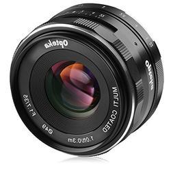 Opteka 35mm f/1.7 HD MC Manual Focus Prime Lens for Sony E M
