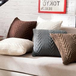 Fashion Knitting Throw Pillow Cases Cafe Sofa Cushion Cover