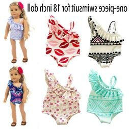 Fashion One-piece Swimsuit Clothes Girl Toy For 18inch Doll