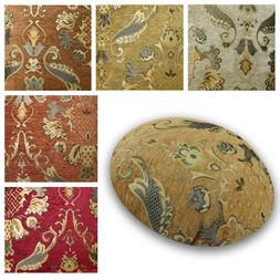 Flat Round Shape Cover*Damask Chenille Floor Seat Chair Cush