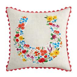 The Pioneer Woman Flowering Horseshoe Decorative Throw Pillo