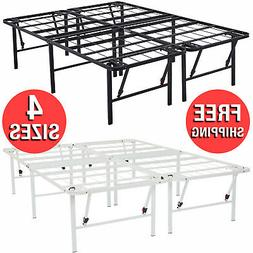Foldable Multiple Size Folding Steel Sleep Bed Frame Stand 1