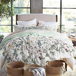 ENVOGUE French Country Provincial Wildflower Print Washed Co