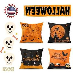 Funpeny Halloween Decoration, Set of 4 Halloween Pillow Cove