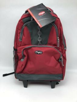 genesis 18 inch rolling backpack red