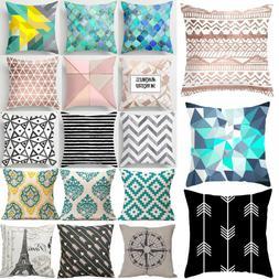 Geometric Pattern Throw Pillow Case Modern Cushions Cover  B